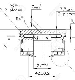 design drawings of nonexistent internal combustion engine piston clipping path stock photo  [ 1300 x 840 Pixel ]