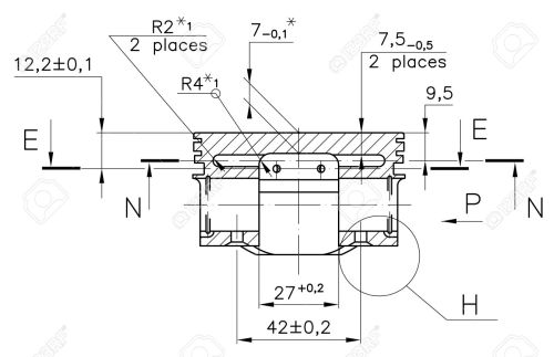 small resolution of design drawings of nonexistent internal combustion engine piston clipping path stock photo