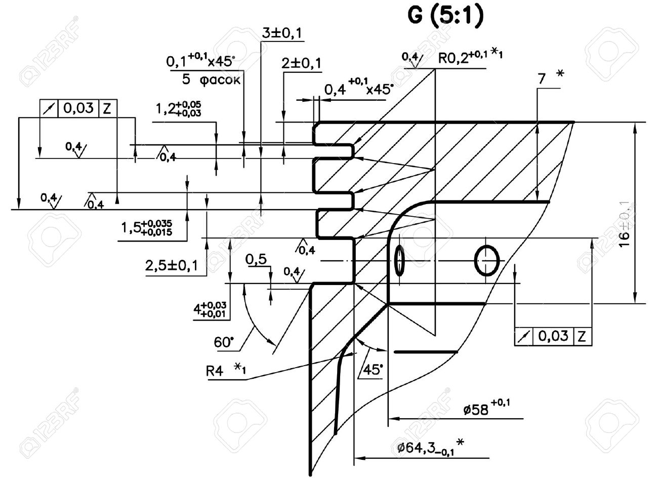 hight resolution of design drawings of nonexistent internal combustion engine piston clipping path stock photo