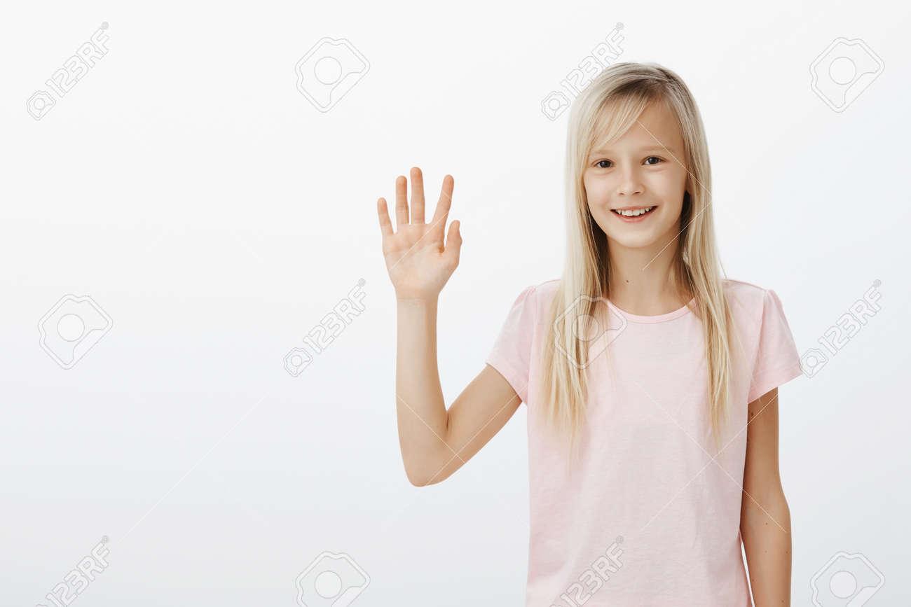 cute friendly girl meeting