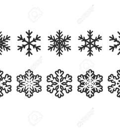 winter clipart elements illustration stock vector 89175839 [ 1300 x 910 Pixel ]