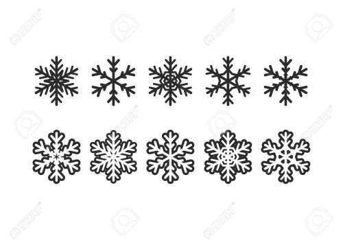 small resolution of winter clipart elements illustration stock vector 89175839