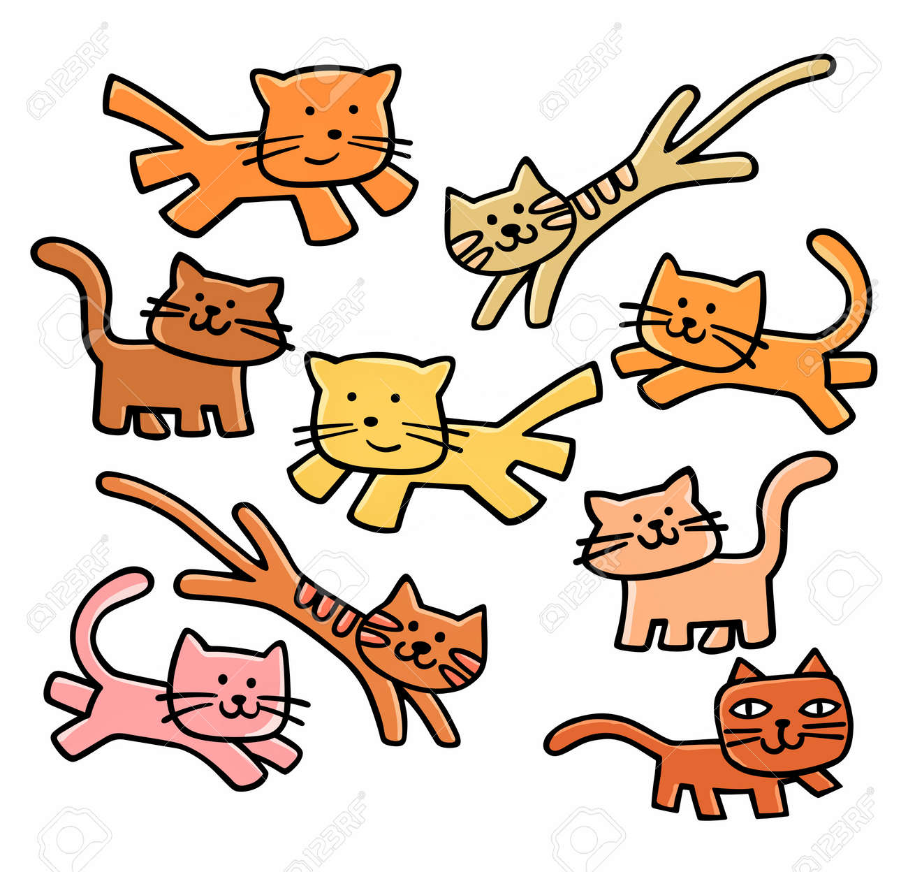 hight resolution of cute cats clipart stock vector 29816630