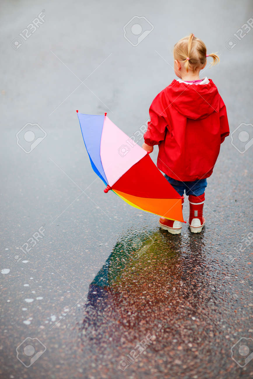 toddler girl with colorful