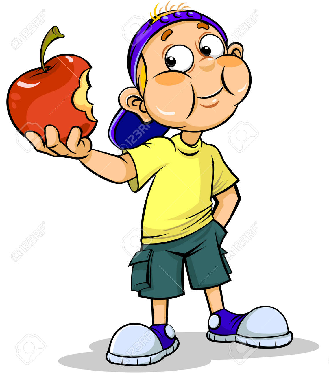 Image result for girl eating apple clipart