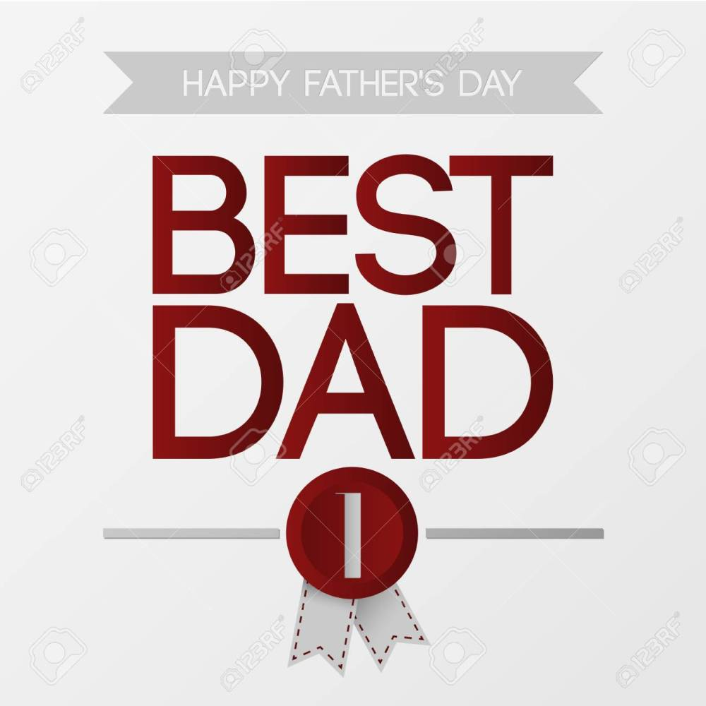medium resolution of fathers day best dad vector illustration stock vector 58018447