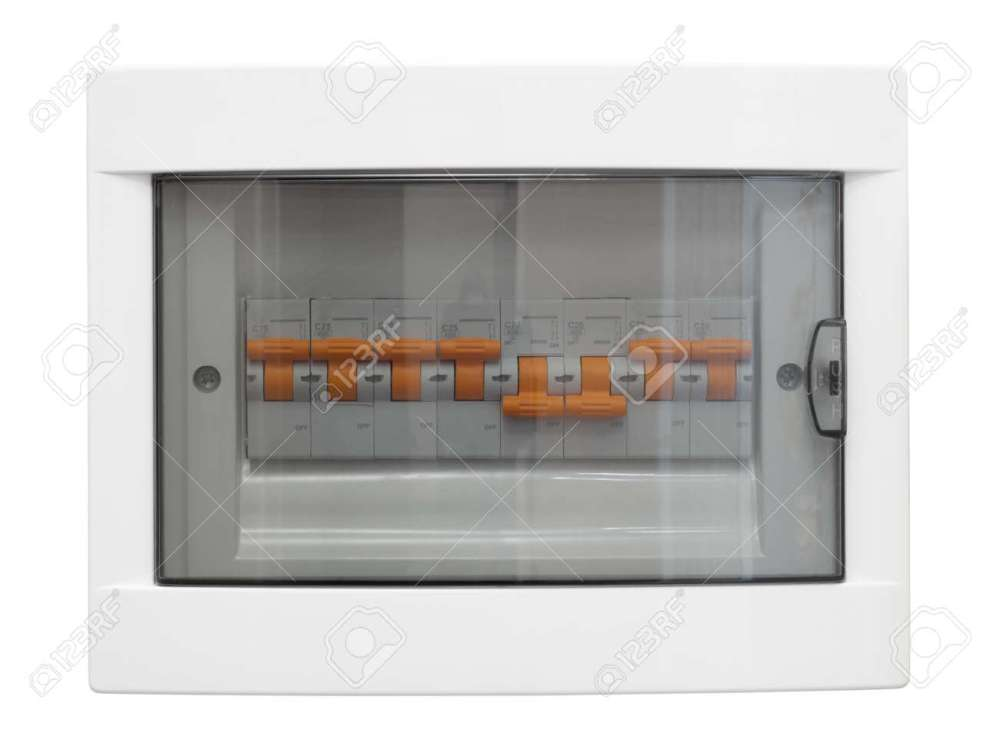 medium resolution of electricity distribution box closed fusebox isolated on whiteelectricity distribution box closed fusebox isolated on white background