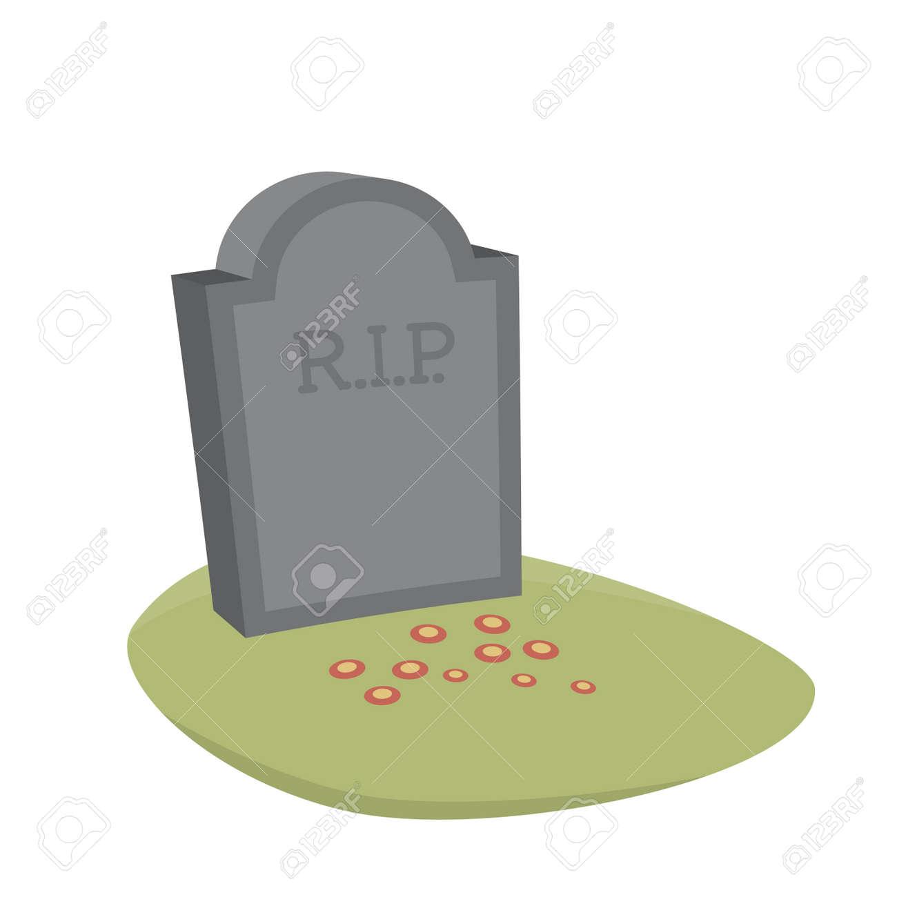 hight resolution of gravestone cartoon vector isolated stock vector 53423607