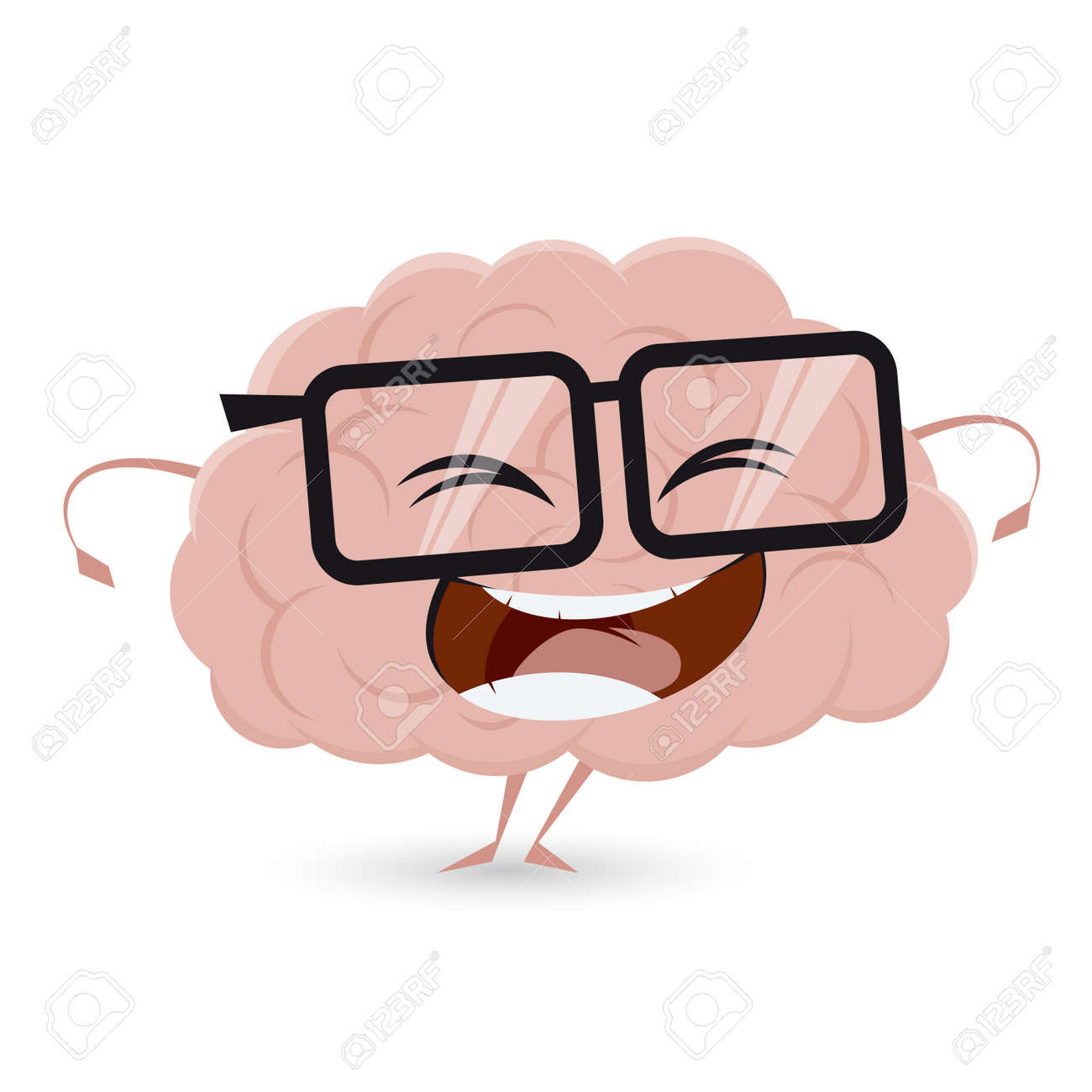 hight resolution of funny brain clipart stock vector 62340391