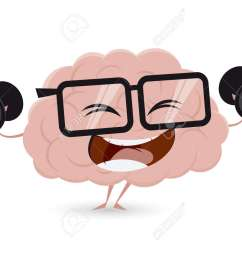 funny brain workout with dumbbells clipart stock vector 62340988 [ 1300 x 975 Pixel ]