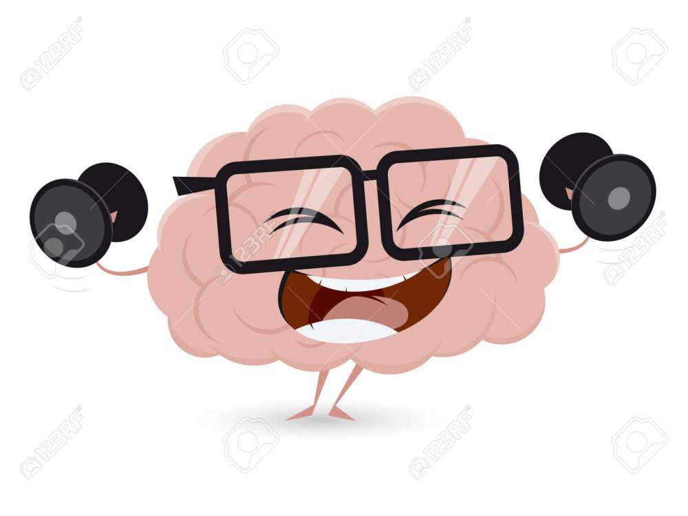 medium resolution of funny brain workout with dumbbells clipart stock vector 62340988