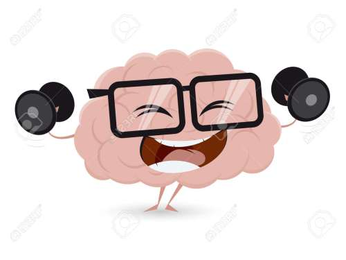 small resolution of funny brain workout with dumbbells clipart stock vector 62340988