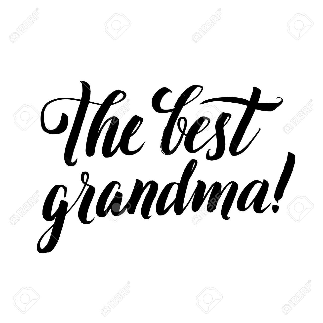 the best grandma happy