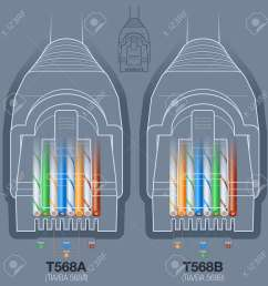 rj45 network cable connector t568a t568b wiring diagram royaltyrj45 network cable connector t568a t568b [ 1300 x 1300 Pixel ]
