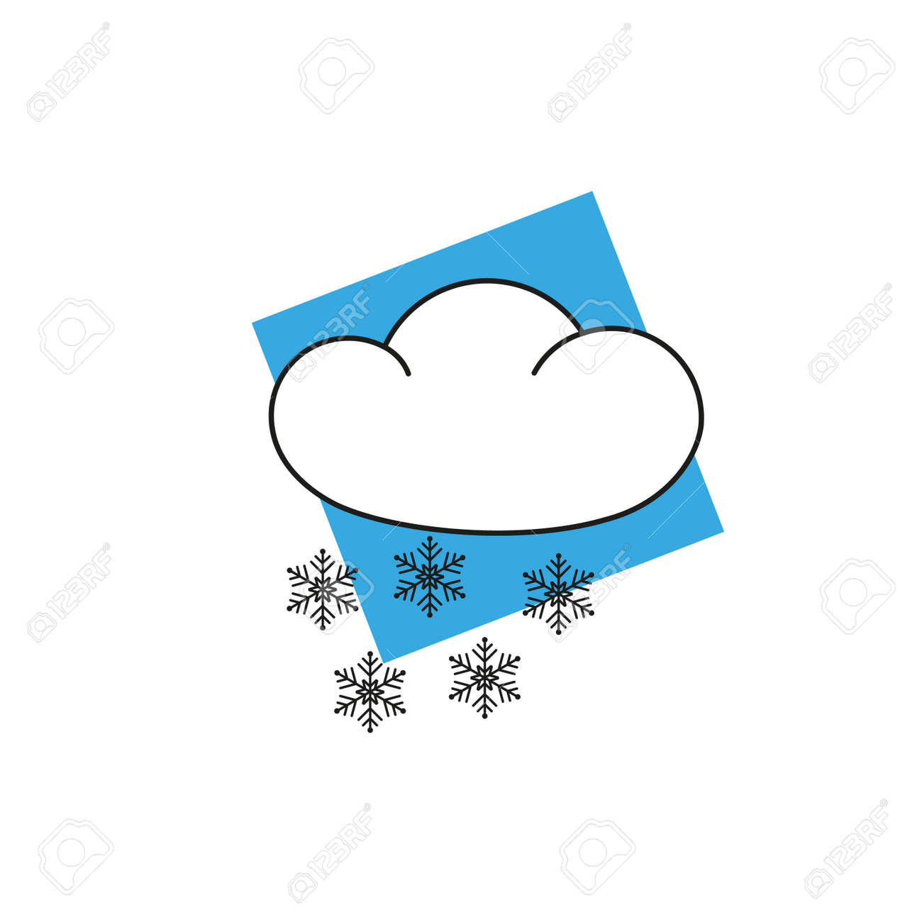 hight resolution of vector weather icon clipart snow flakes illustration