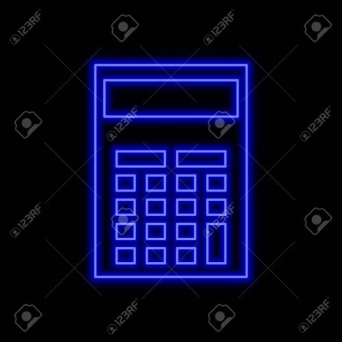 small resolution of calculator neon sign bright glowing symbol on a black background neon style icon