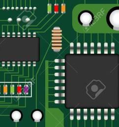 electronic circuit board vector stock vector 64450663 [ 1300 x 673 Pixel ]
