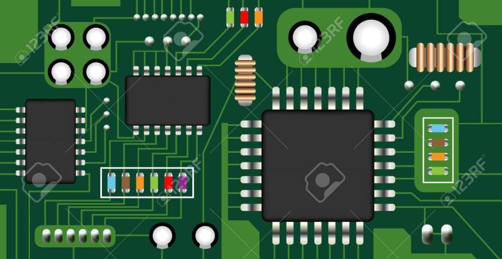 medium resolution of electronic circuit board vector stock vector 64450663