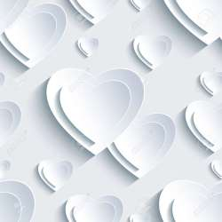 Elegante Día De San Valentín Sin Problemas De Fondo Gris Con Blanco De Papel 3d Corazones Trendy Wallpaper Abstracto Hermoso Valentines Moderna Tarjeta De Amor Día Ilustración Del Vector Ilustraciones Vectoriales Clip