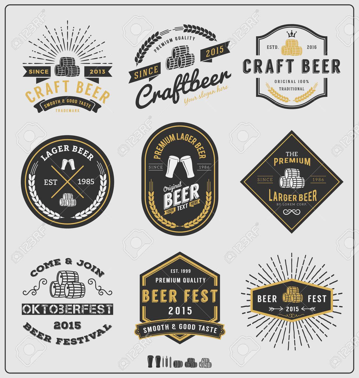 set of vintage beer