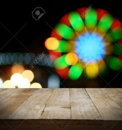 christmas holiday background with empty wooden deck table over christmas tree empty display for montage [ 1300 x 1014 Pixel ]