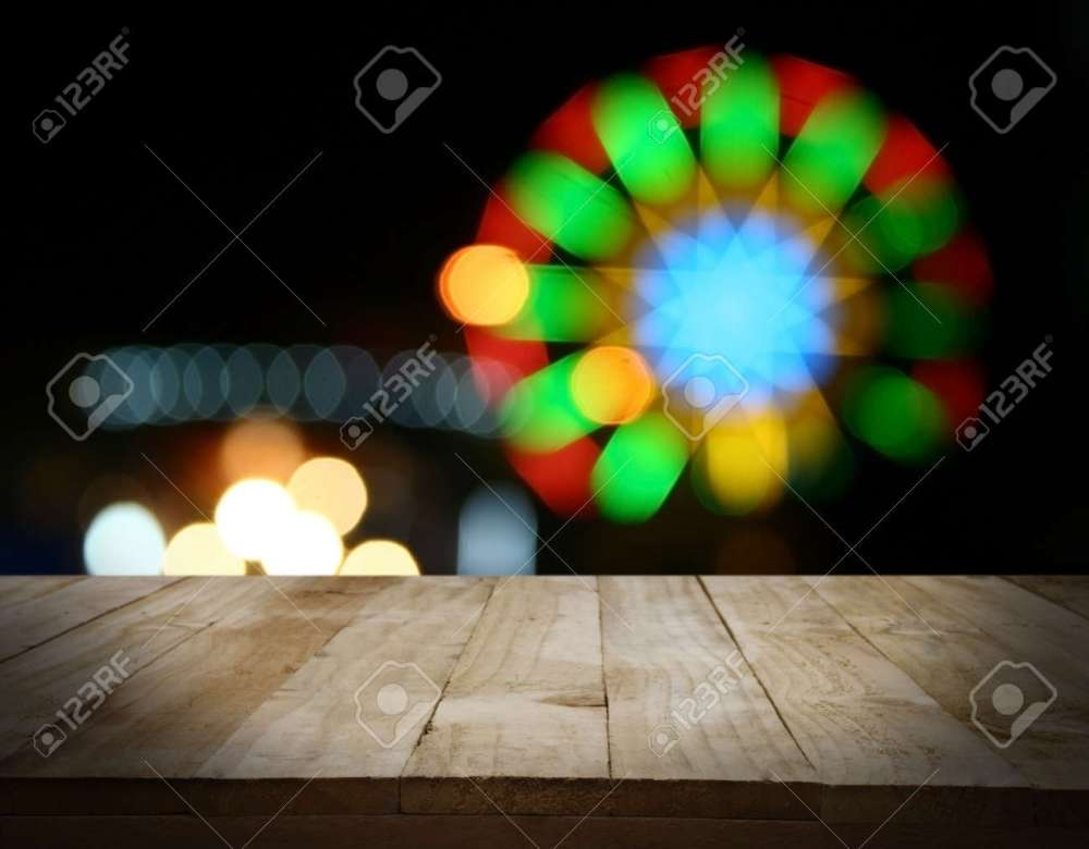 medium resolution of christmas holiday background with empty wooden deck table over christmas tree empty display for montage