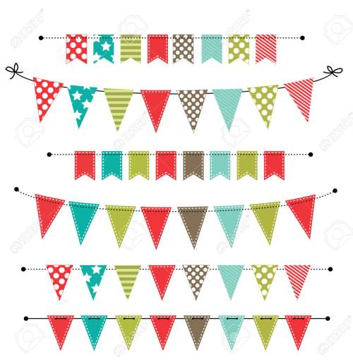 small resolution of christmas banner bunting or flags on transparent background for scrapbooking vector format stock