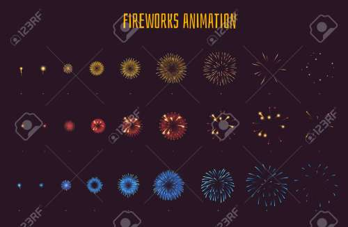 small resolution of vector vector cartoon style set of game fireworks explode effect burst sprites for animation game user interface gui element for video games