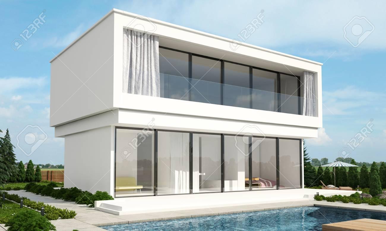 Maison De Luxe Moderne Exterieur   Stunning Amenagement Exterieur ...