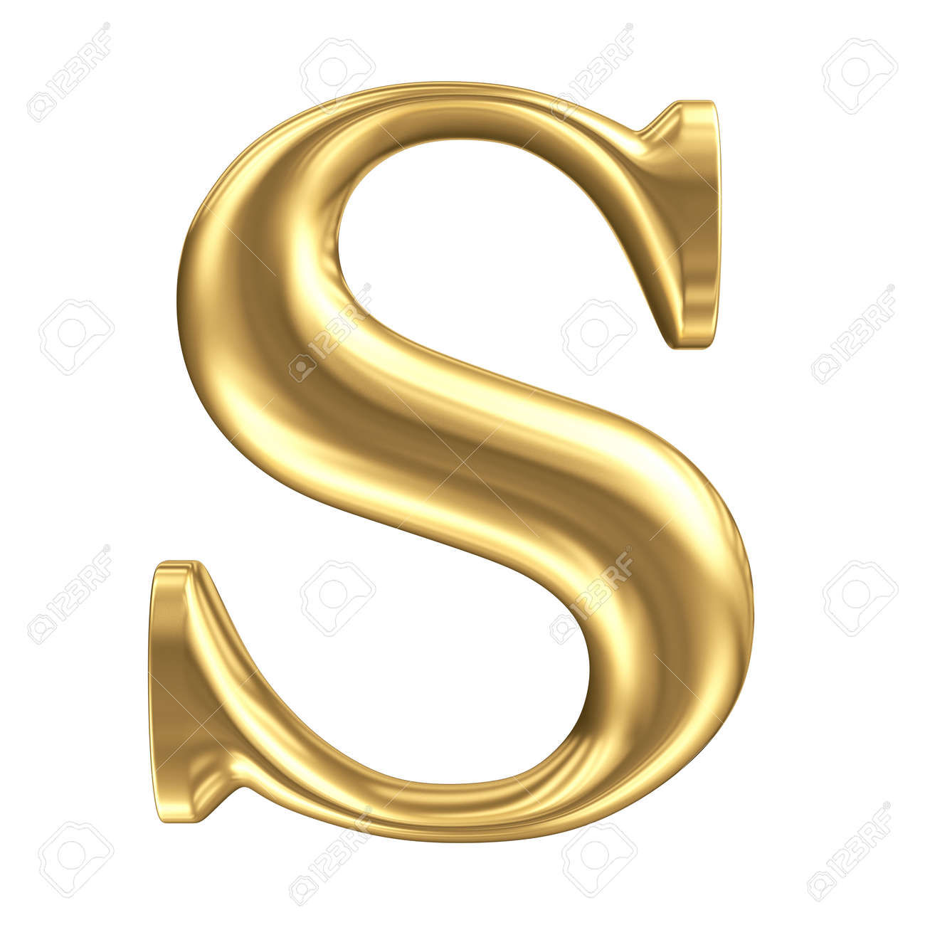golden matt letter s