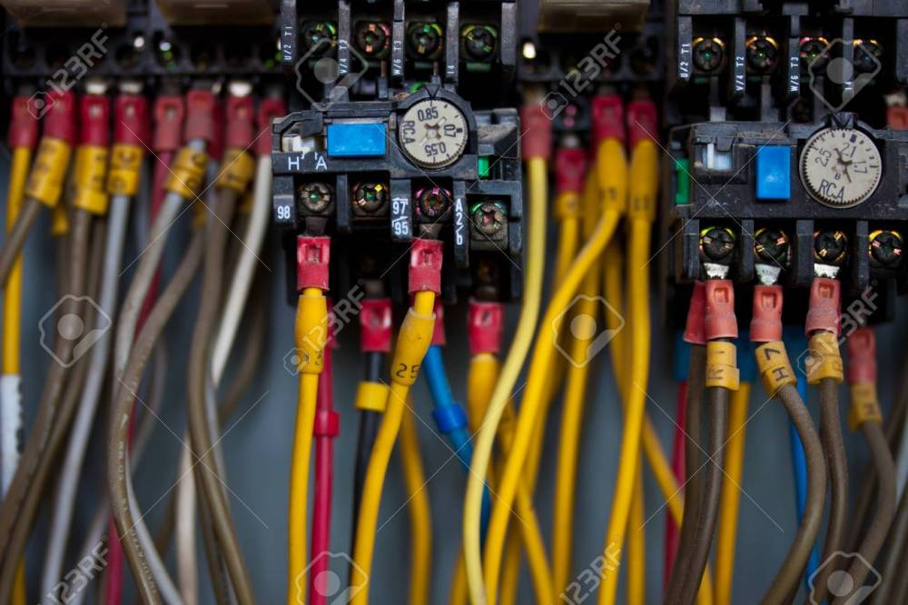 medium resolution of junction inside control panel stock photo 18103147