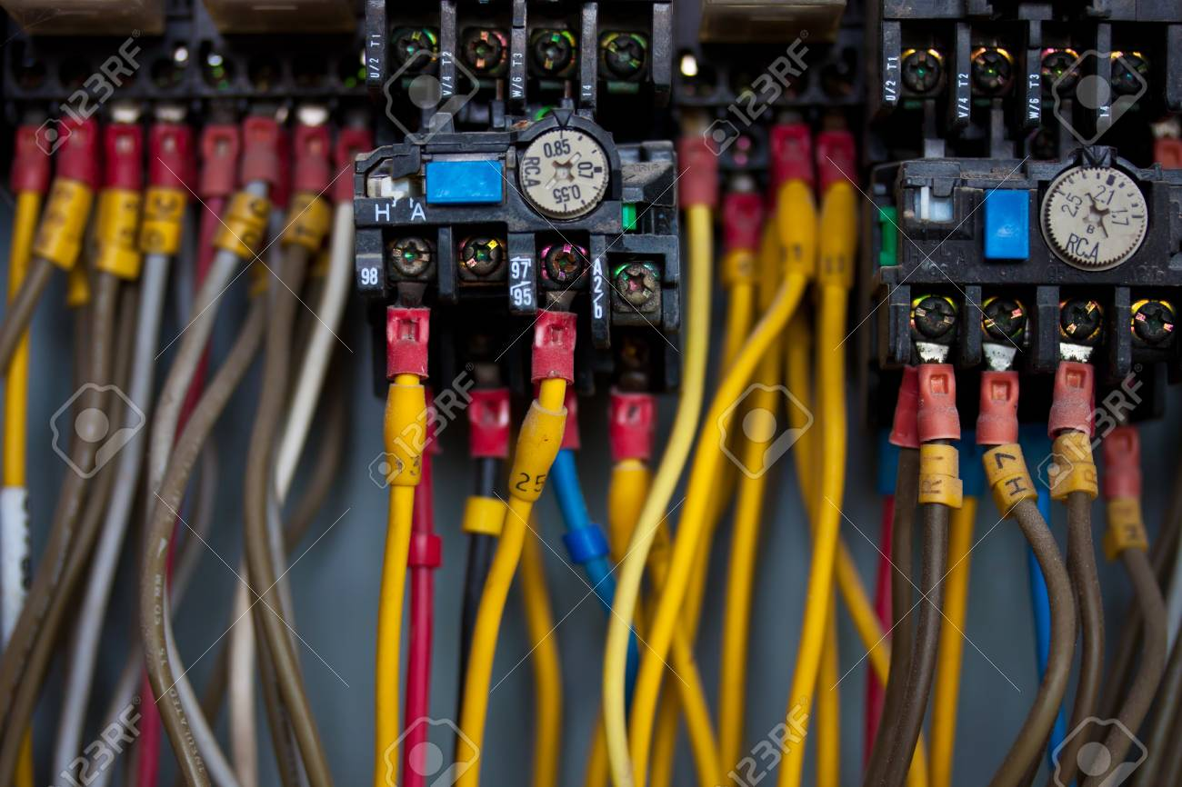 hight resolution of junction inside control panel stock photo 18103147