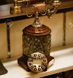 close up shot of old antique telephone stock photo 20655052 [ 866 x 1300 Pixel ]