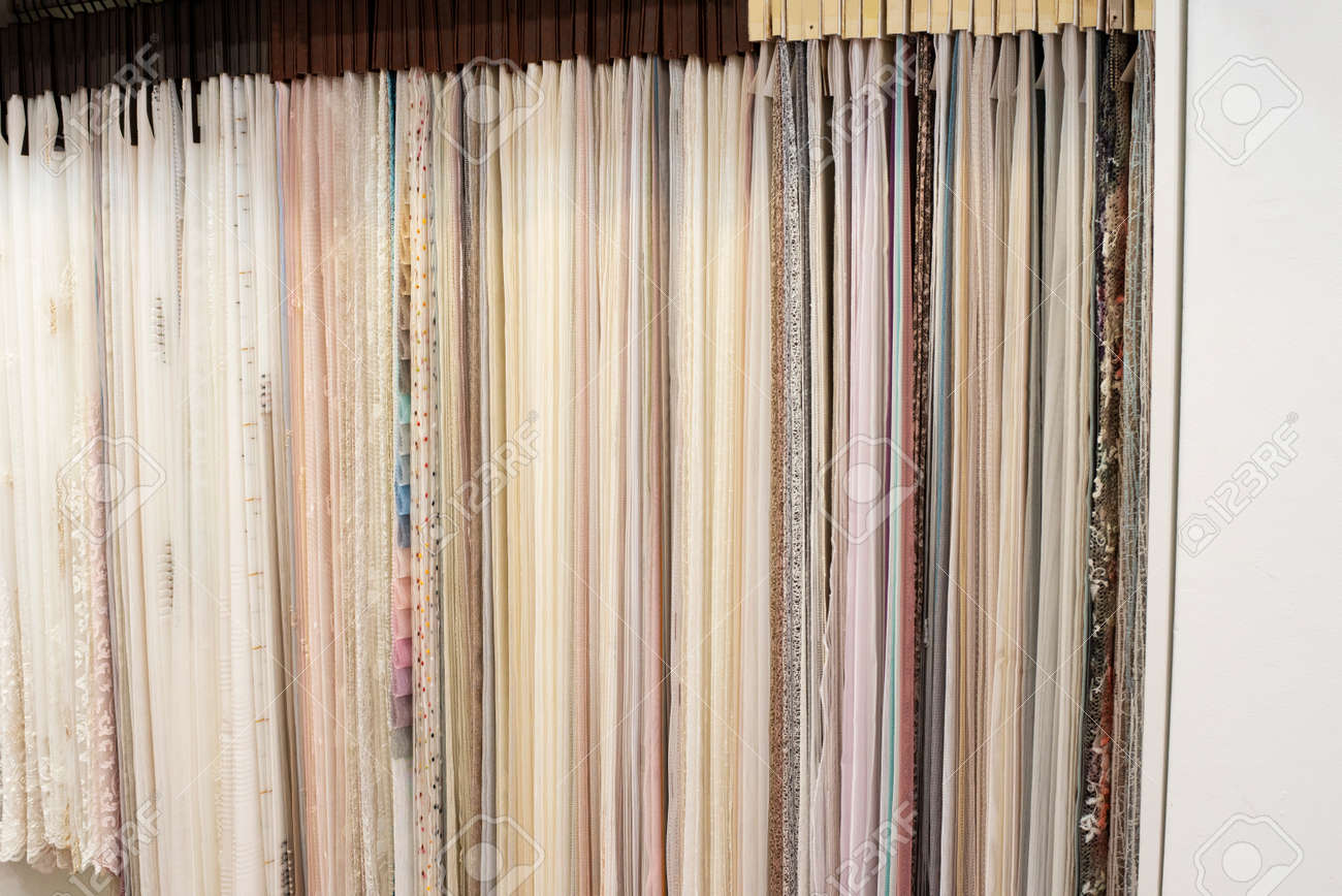 assortment of fabric samples