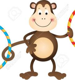 monkey with hula hoops stock vector 27374754 [ 1300 x 620 Pixel ]