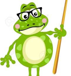 cute frog teacher stock vector 68927488 [ 766 x 1300 Pixel ]