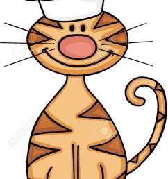 cute cat wearing chef hat stock vector 87774298 [ 753 x 1300 Pixel ]