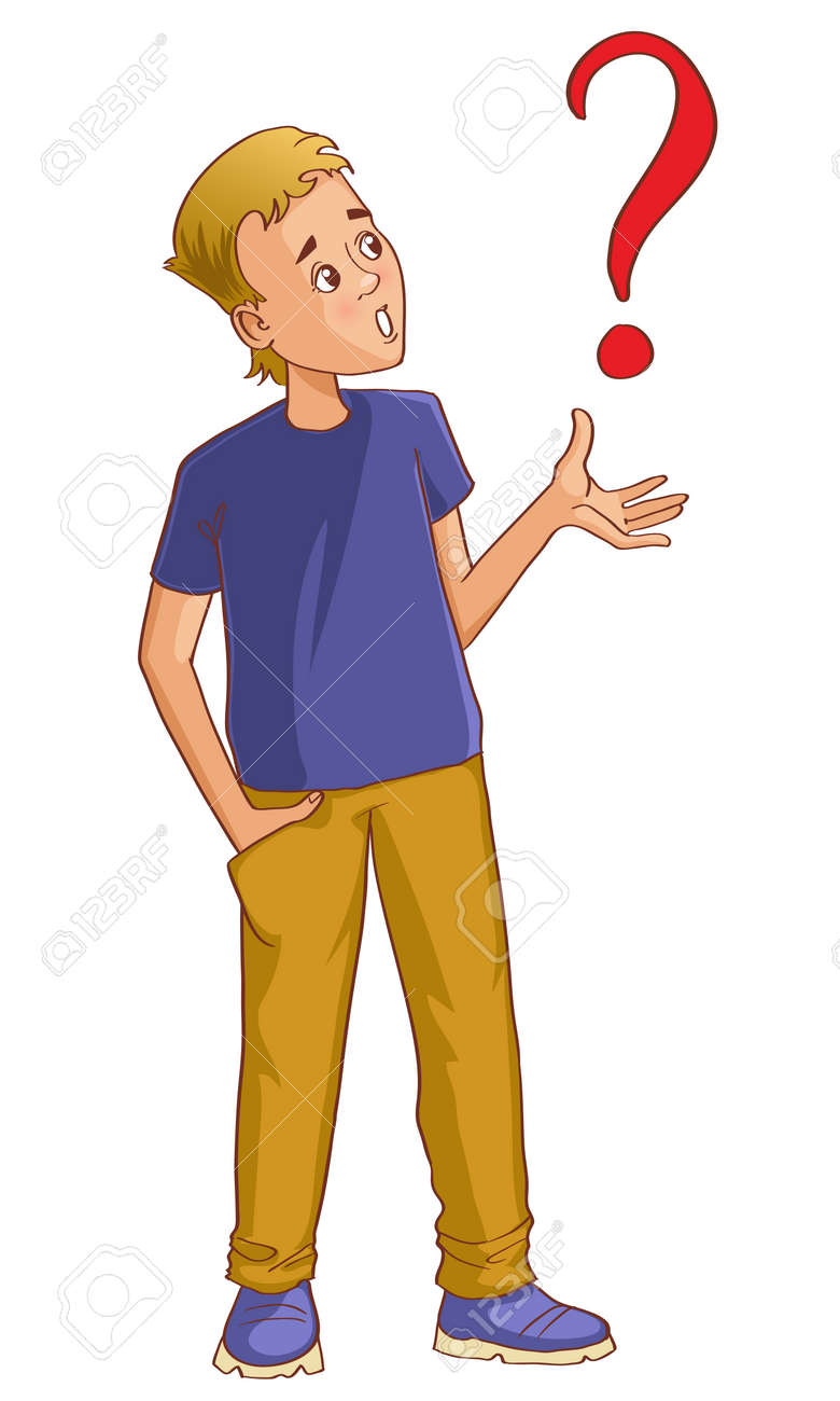 Confused Person Cartoon : confused, person, cartoon, Confused, Cartoon, Question-mark, Royalty, Cliparts,, Vectors,, Stock, Illustration., Image, 22735375.