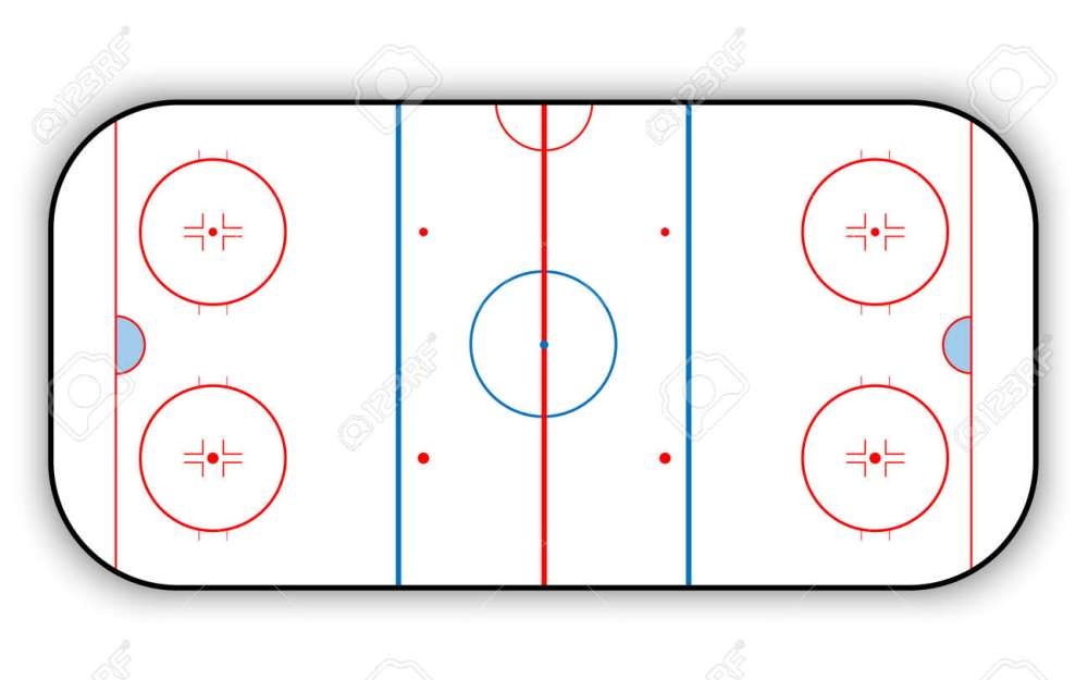 medium resolution of ice hockey rink stock vector 68034454