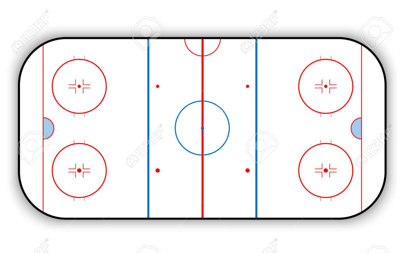hight resolution of ice hockey rink stock vector 68034454