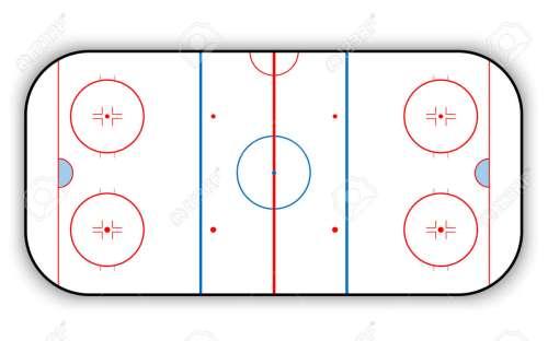 small resolution of ice hockey rink stock vector 68034454