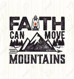 biblical illustration christian lettering faith can move mountains matthew 17 20 stock [ 1300 x 1300 Pixel ]