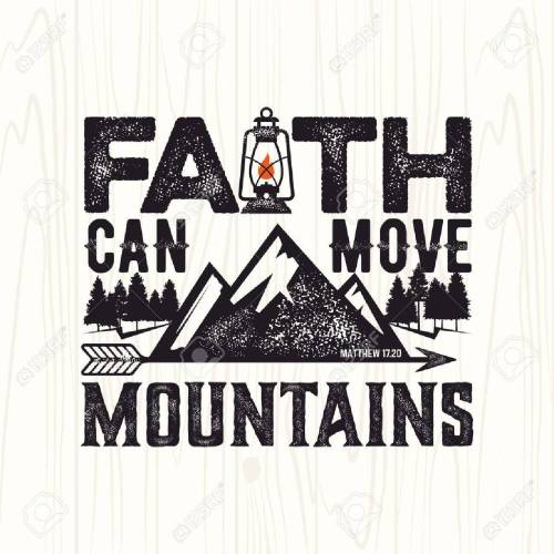 small resolution of biblical illustration christian lettering faith can move mountains matthew 17 20 stock