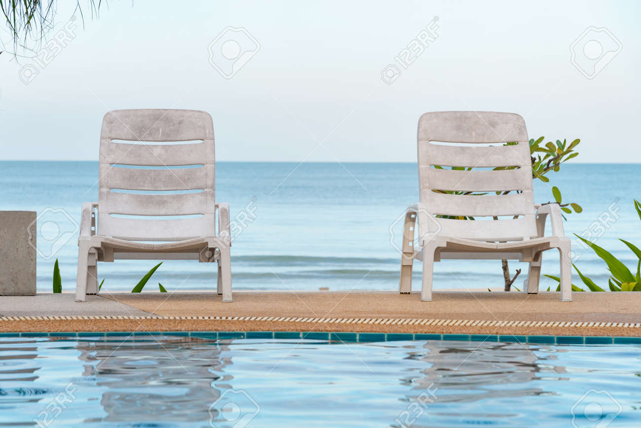 Pool Lounge Chair Tropical Swimming Pool Lounge Chairs On The Beach Beautiful