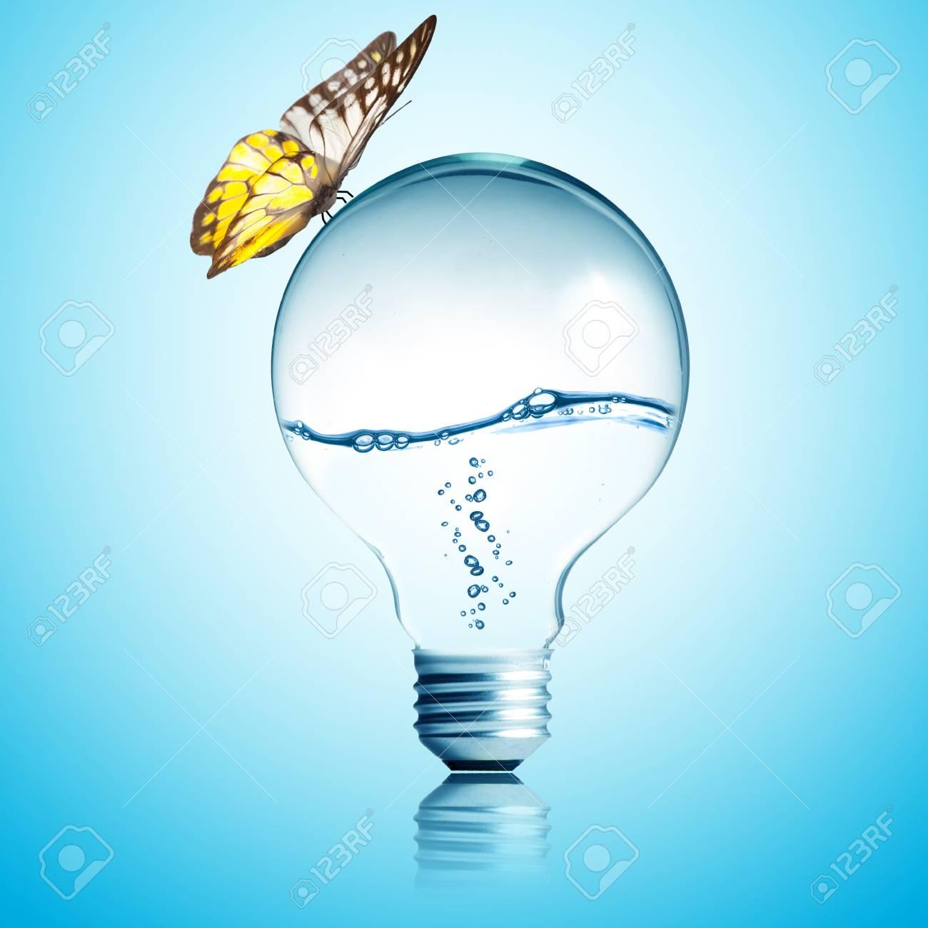 water inside light bulb