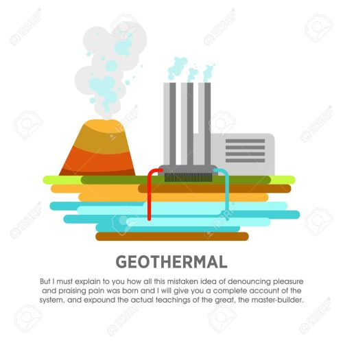small resolution of geothermal power station earth thermal heat energy vector flat illustration stock vector 71969688