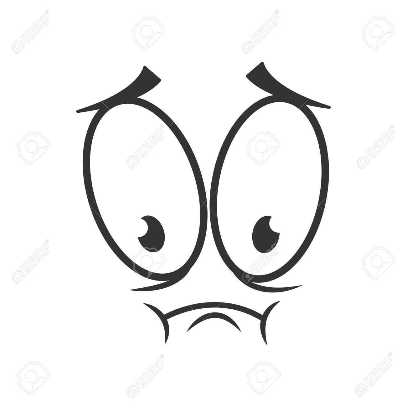 depressed emotion icon design