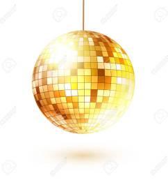 vector vector illustration of golden disco ball  [ 1300 x 1300 Pixel ]