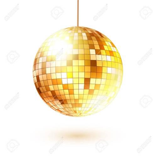small resolution of vector vector illustration of golden disco ball