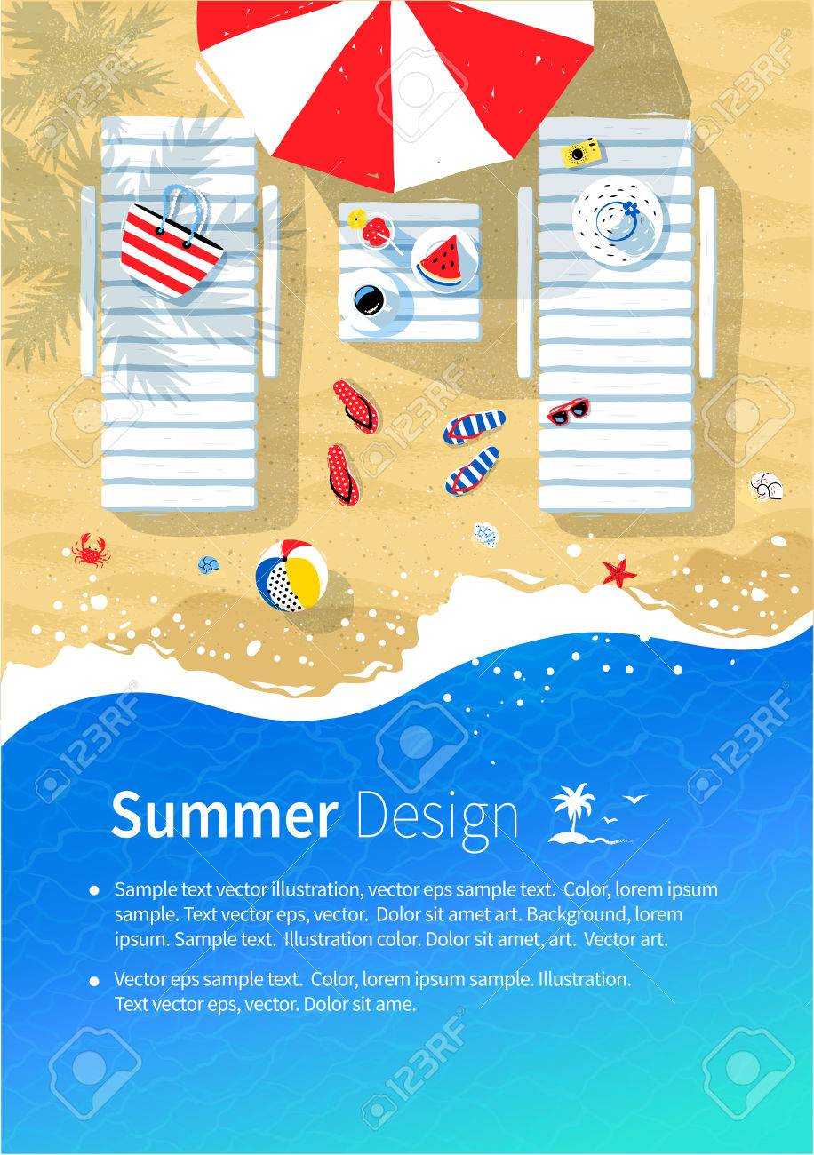 Summer Vacation Flyer Design Royalty Free Cliparts Vectors And Stock Illustration Image 78457028
